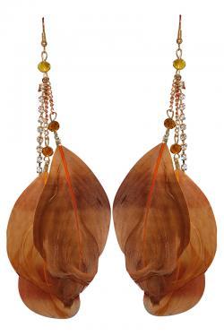 Feather Design Long Earring (RASH-0061)