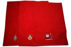Red 3 Piece Hand Towel - Pure Cotton Towel (SD-100)