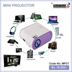▶Projector 🔈🎶 Home Projector 👍 with Free HDMI Support 1080P for Home Cinema Theater TV Laptop Game SD iPad iPhone 👩👩👧👦 Android Smartphone- ✅White And black (