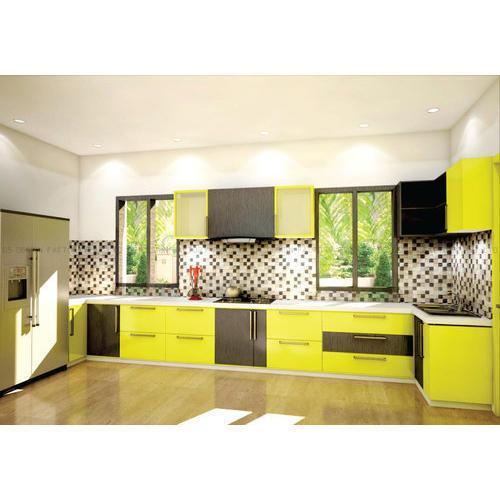 Modular kitchen with parketing