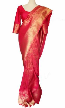 Saree Vanrashi Peach Sare