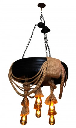 Tire Rope Party Bar Indoor Hanging Decoration Fancy Chandelier Pendant Light
