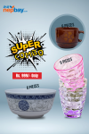 COMBO OFFER: 6 Piece Bowls + 6 Piece Cups + 6 Piece Glasses