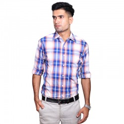 100% Cotton Tartan Pattern Long Sleeve Shirt