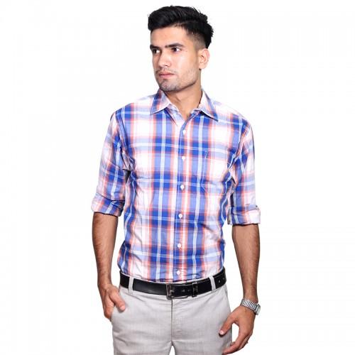 100% Cotton Tartan Pattern Long Sleeve Shirt