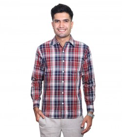 100% Cotton Plaid Pattern Long Sleeve Shirt