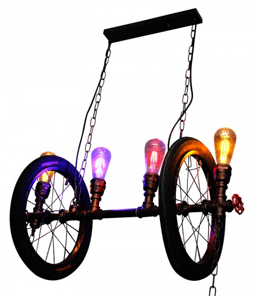 Double Wheel Chandelier - Vintage Light
