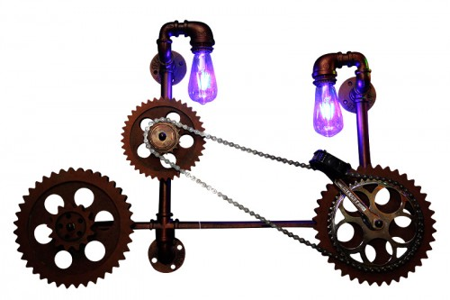 Antique Cycle Wall Lamp - Vintage Light