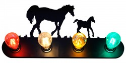Horse Wall Lamp - 4 Color Lamps