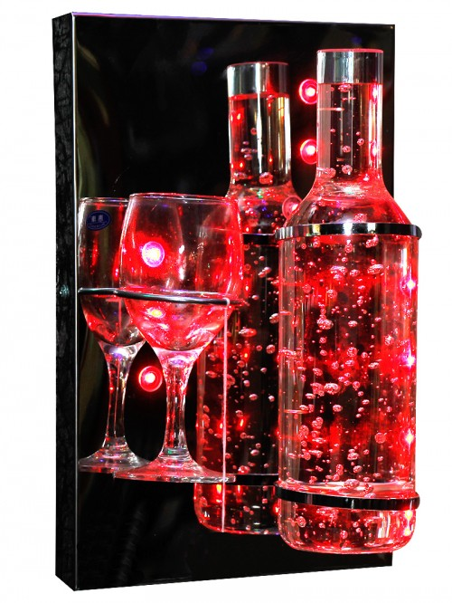 Wine Bottle With Glass - Decorative Light