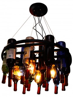 Iron Roof Wine Rack For Holding Wine Chandelier