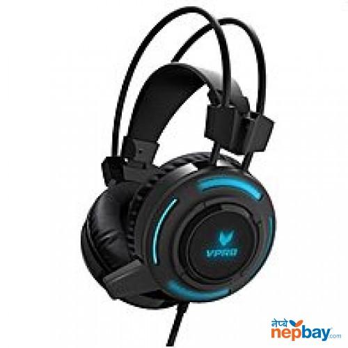 Rapoo VH200 RGB Breathing Light HiFi Gaming Headphone Headset With Mic - Black