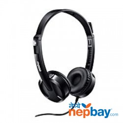 Rapoo H100 Wired Stereo Headset With Mic & 3.5mm Audio Jack - Black