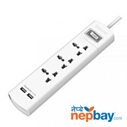 Huntkey SZM307 3-Port Surge Protector - White