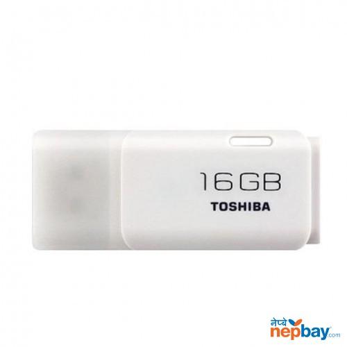 Toshiba UHYBS - 016GH USB 2.0 16 GB Flash Drive - White