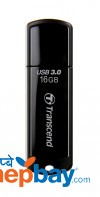 Transcend TS16GJF700 JetFlash 700 USB 3.0 16 GB Flash Drive - Black