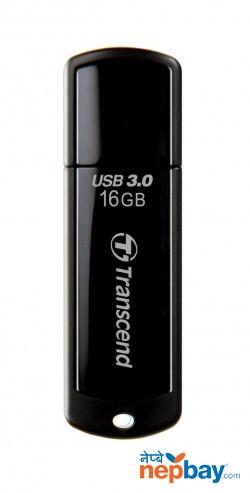 Transcend TS16GJF700 JetFlash 700 USB 3.0 16 GB Flash Drive - Black