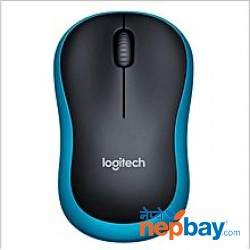 Logitech M186 Optical Ergonomic Mini 2.4GHZ Wireless Mouse - (Black/Blue)