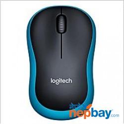 Logitech M186 Optical Ergonomic Mini 2.4GHZ Wireless Mouse - (Black/Blue)