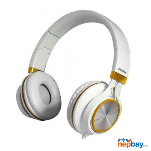 Prolink PHC1002E Frolic Corded Stereo Headset - White