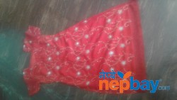 Red kurtha suruwal piece