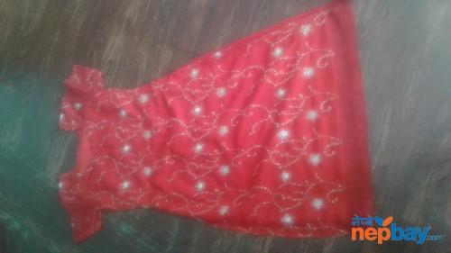 Red kurtha suruwal piece