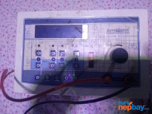 Lumbar traction machine muscle stimulator n hot machine