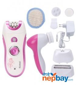 Kemei 6in1 Womens Epilator Electric Hair Removal Km-3066