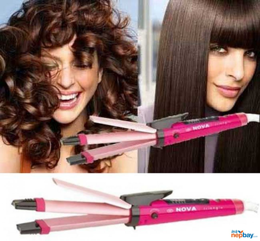 Nova 2 In 1 Hair Straighter And Curler