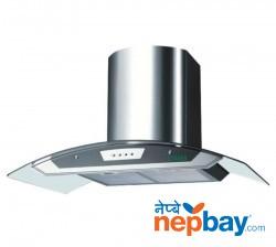 Faber Glassy Isola Plus Kitchen Chimney 3D-T2S5-LTW