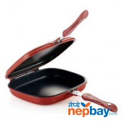 Double sided fry pan