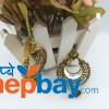 Gold Tone Mirror Chandbali Designed Earrings