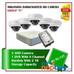 5 Hikvision Darkfighter Camera Set Package E