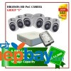 6 Hikvision HD POC Camera Set Package F