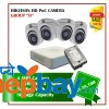 4 Hikvision HD POC Camera Set Package D