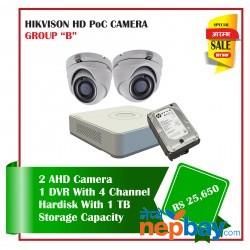 2 Hikvision HD POC Camera Set Package B