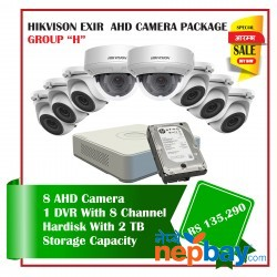 8 Hikvision AHD Exir Camera Set Package H