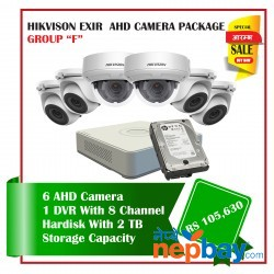 6 Hikvision AHD Exir Camera Set Package F