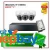 3 Hikvision IP Camera Set Set Package C