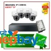 4 Hikvision IP Camera Set Package D