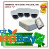 4 Hikvision HD camera Set Package D