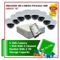 8 Hikvision HD Camera Set Package H