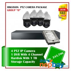 4 Hikvision PTZ Camera Set Package D