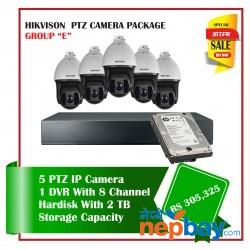 5 Hikvision PTZ Camera Set Package E