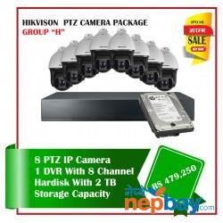 8 Hikvision PTZ Camera Set Package H