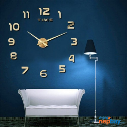 M.Sparkling 3D Wall Clock Modern Design Home Decor