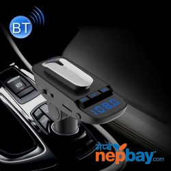 ER9 2 in 1 Hands-Free Calling Car Kit Wireless Bluetooth Headset .