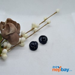 Black Wire Twirled Designed Ear Studs