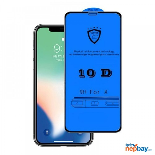 10D 9H Hardness Crystal Clear Screen Protector Toughened Tempered Glass For iPhone X/XR/6/7/8