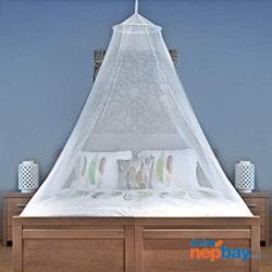 Universal Backpackers Mosquito Net for Single to King Size Beds - Conical & Rectangular Shape for Home and Travel - Easy to Carry & Setup with Free Travel Bag & Canopy Hanging Kit
